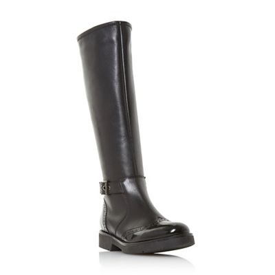Dune - Black leather 'Venture' biker boots
