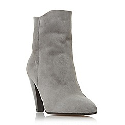 Dune - Grey suede 'Odell' mid block heel ankle boots