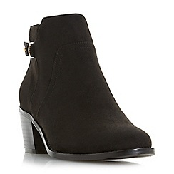 Head Over Heels by Dune - Black 'Pascalle' block heel ankle boots