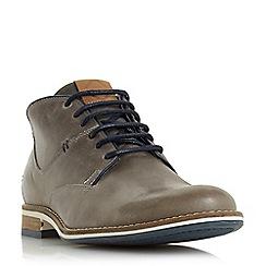 Dune - Grey 'Chum' lace up chukka boots