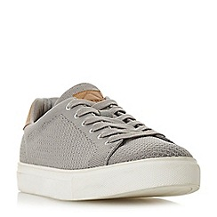 Dune - Grey 'Toure' knitted upper lace-up trainers
