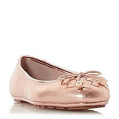 Dune - Rose leather 'Harland' ballet pumps
