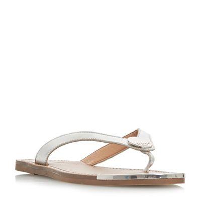 Dune - - - Silver leather 'Lagos' t-bar sandals d303d6