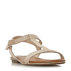 Dune - Natural 'Ladder' t-bar sandals