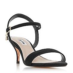Dune - Black suede 'Monnrow' ankle strap sandals