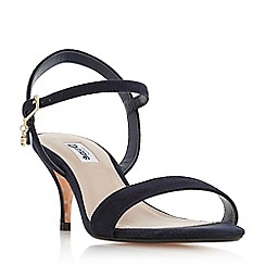 Dune - Navy suede 'Monnrow' ankle strap sandals
