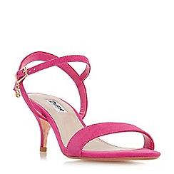 Dune - Pink suede 'Monnrow' mid stiletto heel ankle strap sandals