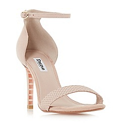 Dune - Light pink suede 'Mortimer' ankle strap sandals