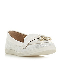 Head Over Heels by Dune - White 'Gilder' loafers