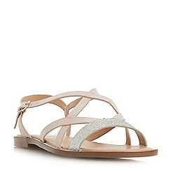 Head Over Heels by Dune - Natural 'Liima' ankle strap sandals
