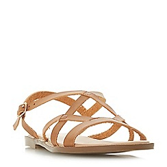 Head Over Heels by Dune - Tan 'Liima' ankle strap sandals