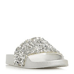 Head Over Heels by Dune - Silver 'Luxxe' sandals