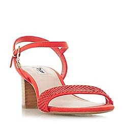 Dune - Orange leather 'Jiggle' ankle strap sandals