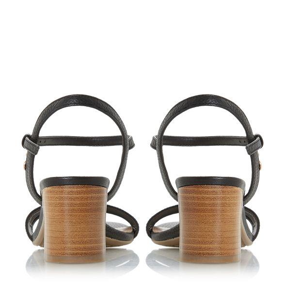 3e36dd65966 ankle leather heel  Jiggle  strap Black sandals block Dune 8X4RwHxqn ...