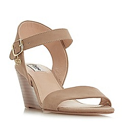 Dune - Taupe leather 'Kendo' ankle strap sandals