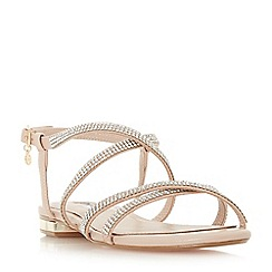 Dune - Natural leather 'Neve' ankle strap sandals