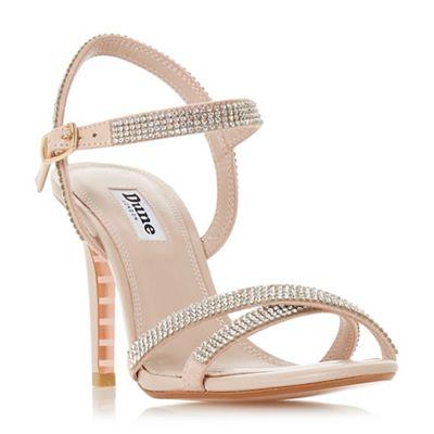 Dune - Light Light Light pink leather 'Madalenna' high stiletto heel ankle strap sandals 29a3fd