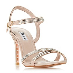 Dune - Light pink leather 'Madalenna' high stiletto heel ankle strap sandals