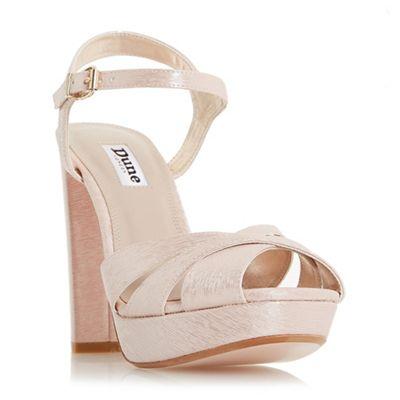 Dune - Light pink 'Maggie' ankle strap sandals