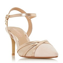 Head Over Heels by Dune - Natural 'Corolina' mid stiletto heel court shoes