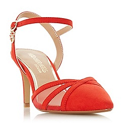 Head Over Heels by Dune - Red 'Corolina' mid stiletto heel court shoes