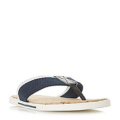 Dune - Navy 'Iniesta' toe post sandal