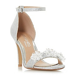 Head Over Heels by Dune - Silver glitter 'Muse' ankle strap sandals