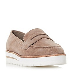Dune - Taupe suede 'Gabryel' loafers