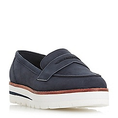 Dune - Navy suede 'Gabryel' loafers