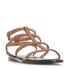 Dune - Tan leather 'Lakke' gladiator sandals