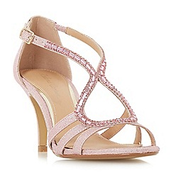 Roland Cartier - Pink 'Mikayla' ankle strap sandals