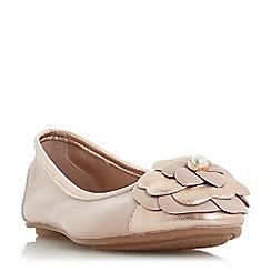 Dune - Light pink leather 'Hyacinthia' ballet pumps