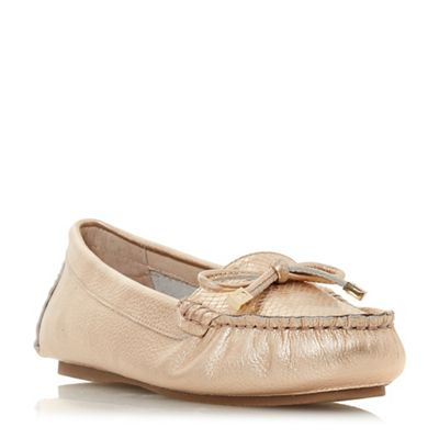 Dune - Rose leather 'Geenova' loafers