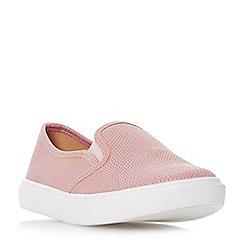 Head Over Heels by Dune - Pink 'Elsaa' slip on trainers