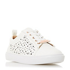 Head Over Heels by Dune - White 'Esther' lace up trainers