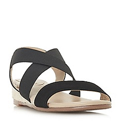 Roberto Vianni - Black 'Katrina' mid wedge heel ankle strap sandals