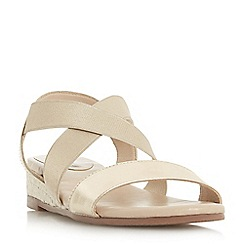 Roberto Vianni - Gold 'Katrina' mid wedge heel ankle strap sandals