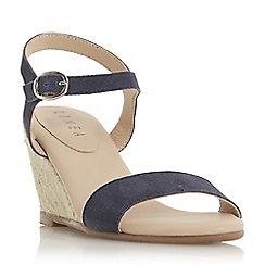 Roberto Vianni - Navy 'Kinvara' mid wedge heel gladiator sandals