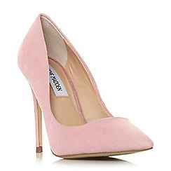 Steve Madden - Pink suede 'Daisiee' high stiletto heel court shoes