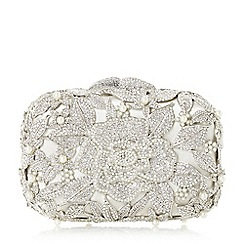 Dune - Ivory 'Celebration' 25 years diamante hard case clutch bag