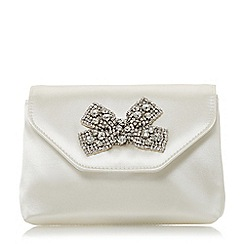 Dune - Ivory 'Belightful' diamante bow clutch
