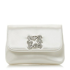 Dune - Ivory 'Beston' mini brooch evening bag