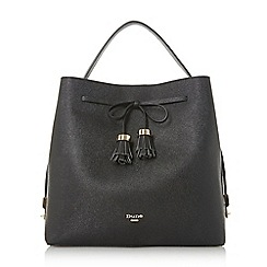 Dune - Black 'Des' bow tassel day bag