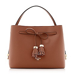 Dune - Tan 'Dinidess' tassel trim handbag