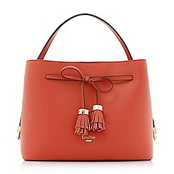 Dune - Orange 'Dinidess' tassel trim handbag