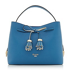 Dune - Blue 'Dinidess' tassel trim handbag