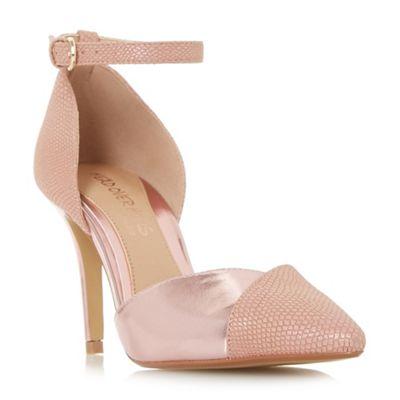 Head Over Heels by Dune - Pink 'Cersey' high stiletto heel court shoes
