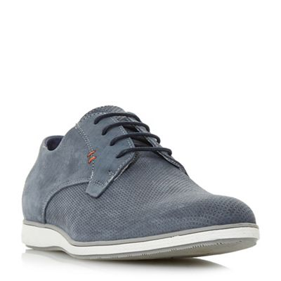 Dune - Blue 'Balthazar' wedged sole casual lace up shoes