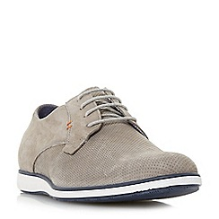 Dune - Grey 'Balthazar' wedged sole casual lace up shoes