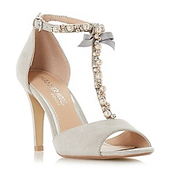 Head Over Heels by Dune - Grey 'Mercedes' high stiletto heel t-bar sandals